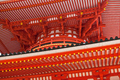 Japanese temple. Wood structure of Japanese buddhist temple Royalty Free Stock Photography