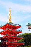 Japanese temple. With blue sky,low angle shot Stock Photo