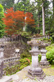 Japanese temple. Stone lantern in a Japanese temple Royalty Free Stock Photo