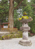 Japanese temple. Stone lantern in a Japanese temple Stock Photography
