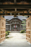 Japanese Temple. Entrance to a Japanese temple Stock Image