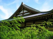 Japanese temple. Typical japanese temple in downtown Tokyo Stock Image