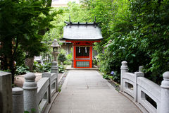 Japanese temple. View from the bridge Stock Photography
