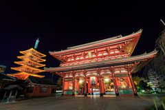 Japanese Temple in Asakusa, Tokyo, Japan Royalty Free Stock Photo