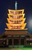 Japanese Temple in Asakusa, Tokyo, Japan Stock Images