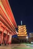 Japanese Temple in Asakusa, Tokyo, Japan Stock Image