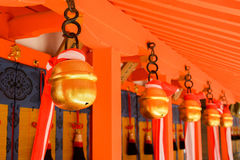 Japanese temple bells Royalty Free Stock Image