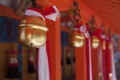 Japanese temple bells i Royalty Free Stock Photo