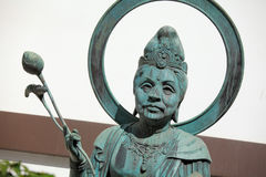 Japanese temple bronze statue Stock Photo