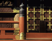 Japanese Temple Detail. Detail of Japanese temple engravings and workmanship royalty free stock photography