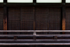 Japanese temple door abstract texture and background Royalty Free Stock Photo