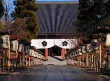 Japanese temple entrance. A traditional path to the Buddhist temple-Japan,Kyoto Royalty Free Stock Photo