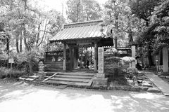 Japanese Temple Entrance. This photo of a Japanese Temple Gate was taken in Kamakura, Japan on a sunny day in May 2014 with a Canon 6D Royalty Free Stock Photos