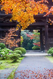 Japanese temple exit Royalty Free Stock Image