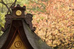 Japanese temple at fall Stock Images