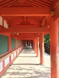 Japanese temple gallery Stock Photos