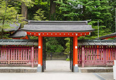 Japanese temple gate. Royalty Free Stock Images