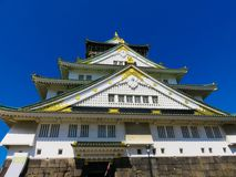 A japanese temple with golden elements. In tokyo Royalty Free Stock Photography