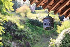 Japanese Temple - Hanging Lantern Stock Images