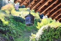Japanese Temple - Hanging Lantern Royalty Free Stock Image