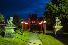 Japanese temple. With his guardians Royalty Free Stock Image