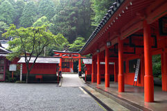 Japanese temple inner yard. Inner yard in japanese  temple in mountain area Stock Photos