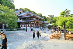 Japanese Temple in Kamakura Royalty Free Stock Photography