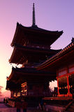 Japanese Temple (Kiyomizu-dera) Royalty Free Stock Images