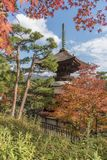 Japanese temple in Kyoto, Japan royalty free stock image