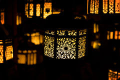 Japanese Temple Lanterns. Stock Photos