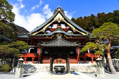 Japanese temple at Mt. Minobu Royalty Free Stock Photography