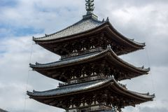 A japanese temple in Nara in Japan royalty free stock photography