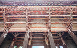 Japanese temple old wood structure Stock Image