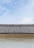 Japanese temple roof Royalty Free Stock Images