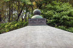 Japanese temple roof Royalty Free Stock Image