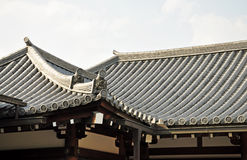 Japanese temple roof Stock Images