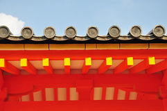 Japanese temple roof. Sanjusangendo Temple in Kyoto, Japan royalty free stock photography