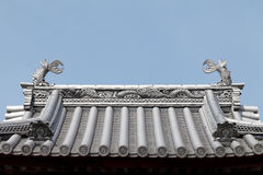 Japanese temple roof Royalty Free Stock Photography