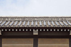 Japanese temple roof and wall Stock Photography