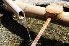 Japanese temple's purge water Stock Photo