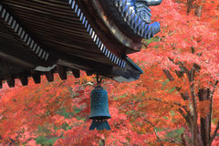 Japanese temple s roof of Nanzen-ji Royalty Free Stock Image