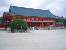 Japanese temple. With traditional roof Stock Photo