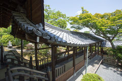 Japanese temple. View of Japanese stone garden and walkway, Tenryuji Temple, Kyoto, Japan Stock Photography
