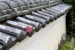 Japanese temple wall Royalty Free Stock Photography