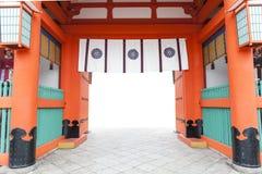 Japanese temple white background Royalty Free Stock Image