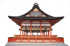 Japanese temple white background Royalty Free Stock Photography