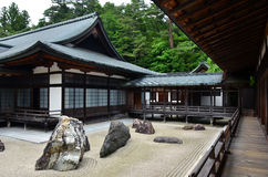 Japanese Temple With Rock Garden Royalty Free Stock Images