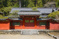 Japanese temple with wooden door Stock Images