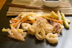 Japanese tempura Royalty Free Stock Photography
