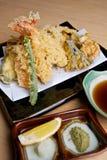 Japanese tempura prawns Royalty Free Stock Photography